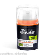 (17,98€/100ml) 50ml Loreal Men Expert Pure Power Feuchtigkeitspflege NEU