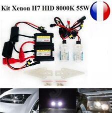 Kit Conversion Xénon Ampoules Feux SLIM ballast 8000K H7 55W HID Peugeot, Opel