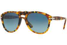 Authentic PERSOL PO0649-1052S3 Sunglasses Madreterra/ Blue Polarized  *NEW* 52mm