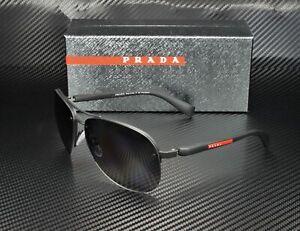 PRADA LINEA ROSSA PS 56MS DG05W1 Black Rubber Polarized Grey Men's Sunglasses