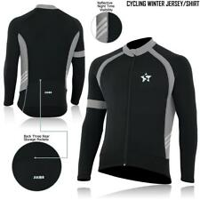 Men's Cycling Jersey Long Sleeve Thermal Windstopper Cold Wear Bicycle Jersey