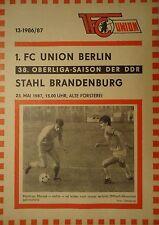 Programm 1986/87 Union Berlin - Stahl Brandenburg