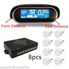 8 Parking Sensors Front Rear LCD Display Car Reverse Backup Alarm Radar Detector