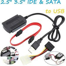 SATA/PATA/IDE a USB 2.0 Adaptador Convertidor de Cable para unidad de disco duro 2.5/3.5 DVD