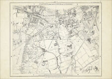 Old map London 1877 #17 repro - Wandsworth, Wimbledon, Putney (S), Westhill etc
