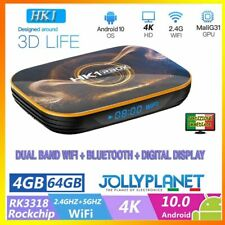 HK1 RBOX ANDROID 10 Smart TV Box 4GB 64GB Rockchip RK3318 4K WiFi Quad-Core HD