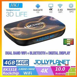 HK1 RBOX android 10 smart tv box 4GB 64GB Rockchip RK3318 4K WiFi quad-core HD