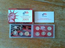 2005 US Mint Silver Proof Set--10 Coins, 7 Silver--in OGP with COA