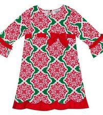 Counting Daisies Girls Printed Holiday Dress Size 6