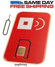 New listing Red Pocket Gsma 3-in-1 Sim card Reg, Micro, Nano. At&T & Unlocked Phones✔