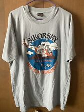 Sikorsky He-52a Helicopter T-Shirt Seaguard Vintage Single Stitch Best Tag XL