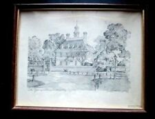 Charles H Overly  Print GOVERNORS PALACE Wood frame ~