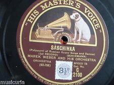 "78rpm 12"" MAREK WEBER saschinka [ russian gypsy songs & dances ] potpourri C2100"