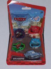 Disney Pixar Cars 2: paquete De 4 Gomas De Borrar