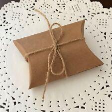 50x mini Kraft pillow paper box birthday party treat wedding baby shower candy