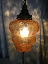 Sheer Black Side Pleated Plug In Pendant Light Drum Swag Lamp Chandelier Mid Century Modern Hanging Lamp Vintage Antique Retro 18Wx8.5H