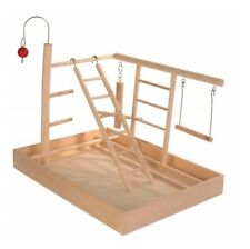 BUDGIE TOY PLAYGROUND Wooden Playground With SWINGS LADDERS etc 34 × 26 × 25 cm