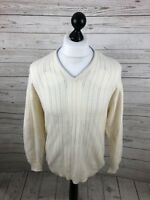 LYLE & SCOTT Jumper - Size Medium - Cream - Wool - Great Condition - Men's