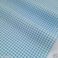PER HALF METRE/ FQ  printed check/gingham fabric 100% cotton poplin fabric