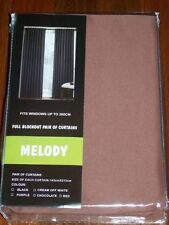 Contemporary Unlined Panel Window Curtains