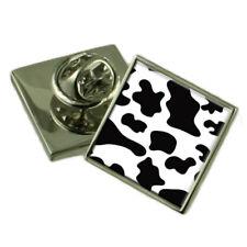 Cow Skin Print Sterling Silver Lapel Pin Gift Box