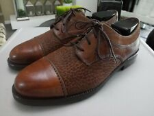 Bloomingdales The Men's Store BROWN Leather Suede Lace-up Size 8.5