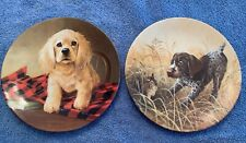 knowles collector plates 1988 Field Puppies Series #5 & 6