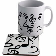 Musique Céramique tasse et sous verre Coffret Cadeau