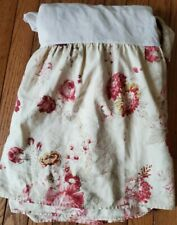 """WAVERLY NORFOLK ROSE SHABBY CHIC FLORAL ROSES TWIN BEDSKIRT DUST RUFFLE 14"""" DROP"""
