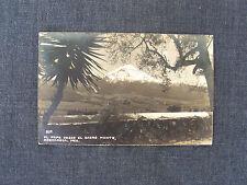 RPPC real photo postcard - El Popo Desde el Sacro Monte, Amecameca, Mex. 537