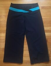 LULULEMON Women's Cropped Pant, Size 8, Yoga Exercise Navy Blue, Cinch cuff