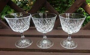 Vintage set of  3 crystal sherry glasses signed Hardson  for Hardson Richardson