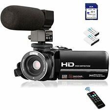Video Camera Camcorder FHD 1080P 24.0MP Digital Camera YouTube Vlogging Camer...