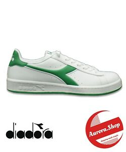 Scarpe uomo DIADORA sneakers sportive casual eleganti moda GAME P bianco - verde