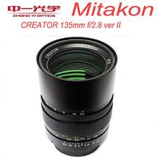 Mitakon CREATOR 135mm f/2.8 ver II for Nikon F mount Full Frame Lens Telephoto B