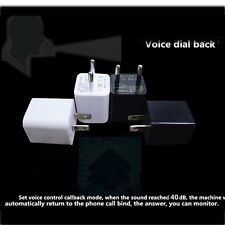 BUG  plug SIM Voice Activated Quad Band GSM GPS Tracker Audio Ear spy Wall