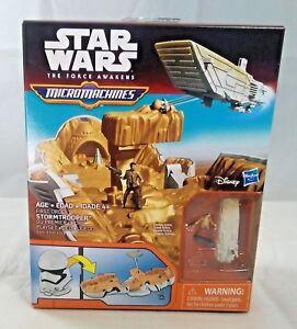 Star Wars The Force Awakens Micro Machines Stormtrooper Play set - New