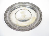 """Vintage Wallace Sterling Silver 925 4128-3 Cutout Plate Dish 8 13/16"""" Diameter"""