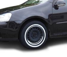 4x Felgenringe Weißwandringe schwarz weiß 15 Zoll Rad Zierring chrom zugelassen