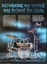 1995 Print Ad of Pearl Prestige Session Drum Kit