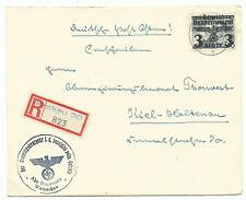 Generalgouvernement R-Brief Mi-Nr.29 Krakau 20 1940 nach Kiel