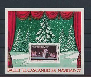 LO40978 Nicaragua 1977 ballet christmas holidays good sheet MNH