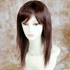 Stunning Heat Resistant Medium Dark Auburn mix Dark Brown Ladies Wigs UK