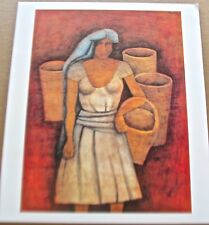 Woman With Baskets Poster by Rufino Tamayo Mexican Artist 15x13