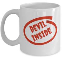 Occult Satanic coffee mug gift - Devil inside - Funny Satan 666 symbol satanism