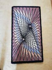VTG 1970er JUNGHANS WOLLE Teppich handgeknüpft geometrische Muster 130x70