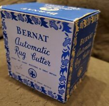 VINTAGE BERNAT Rug Cutter in Original Decorative BOX, Great Britain