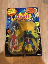 Troll Warriors Finn The Free Spirit 1993 Tyco Troll Power Tattoo Green Purple Nw