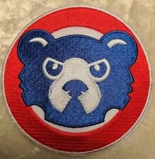 "Cubs Big Cub Face Round 3.5"" Iron On Embroidered Patch ~FREE SHIP!!~"