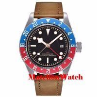 Corgeut 41mm 5ATM GMT automatic men's watch sapphire black strile dial luminous